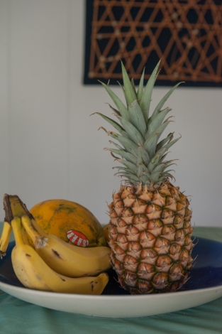 Pineapples in home
