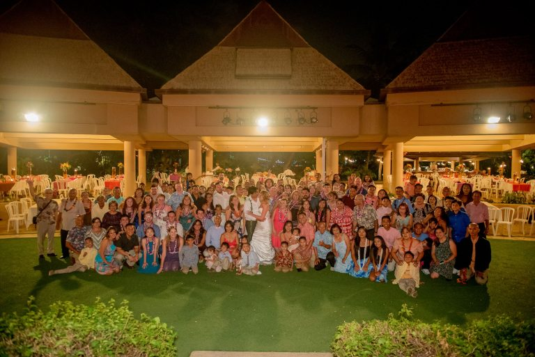 Group Photo of wedding at Hale Koa