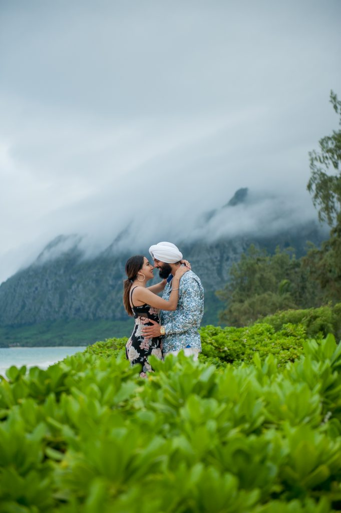 New engaged couple at Waimanalo Beach