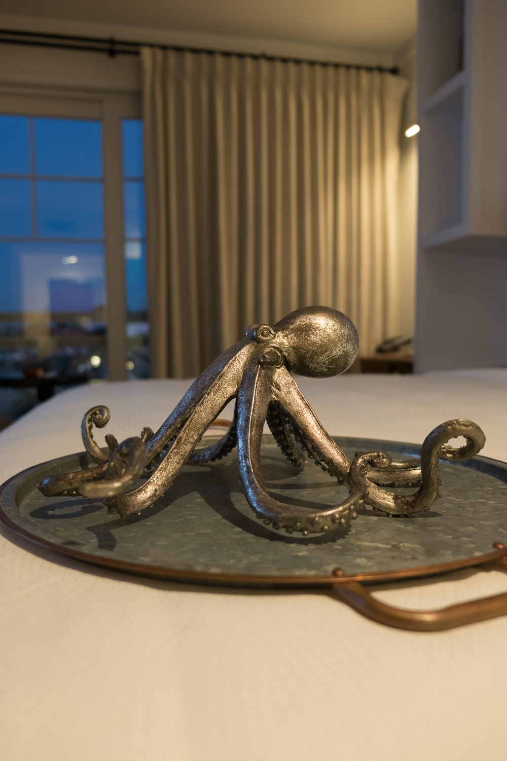 Lido House- octopus statue in room