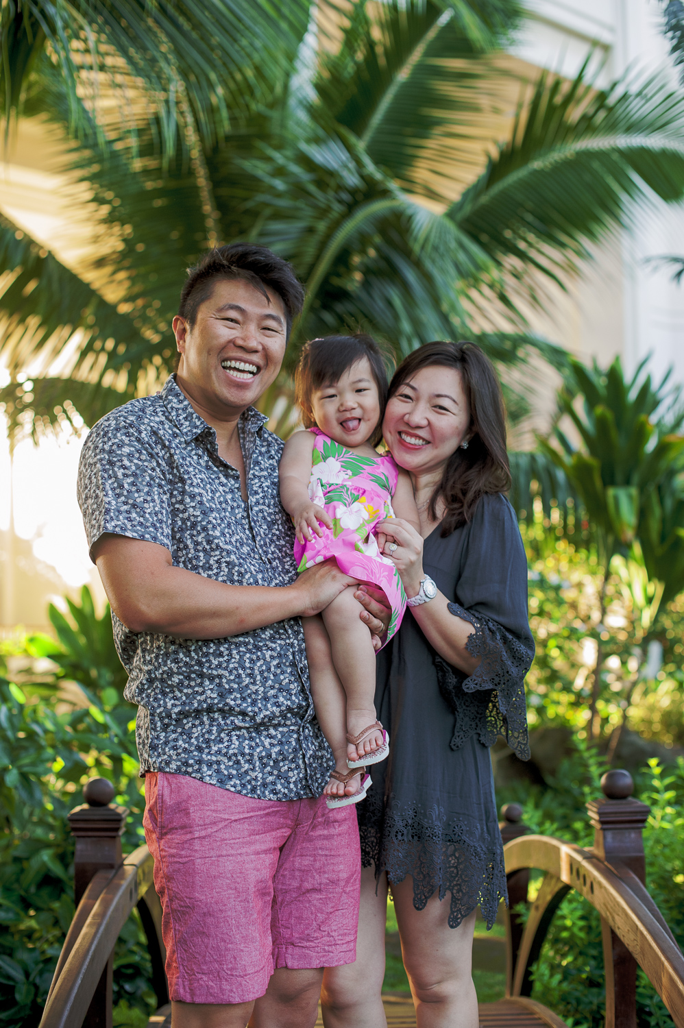 Smiling family at Four Seasons Oahu