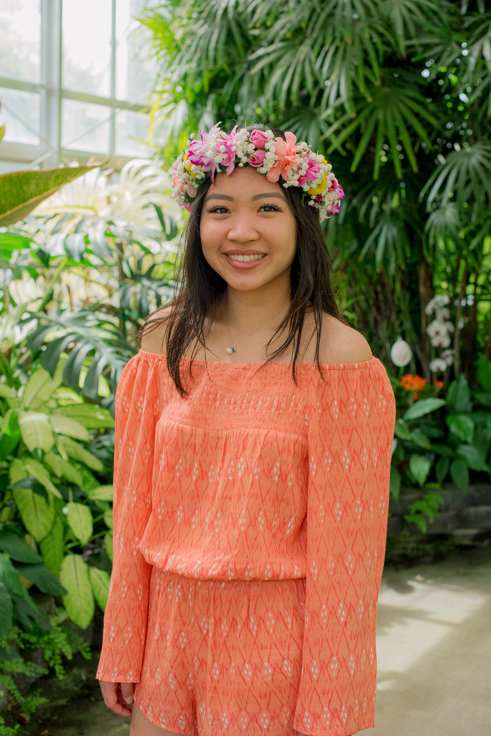High School Senior at Foster Botanical Garden