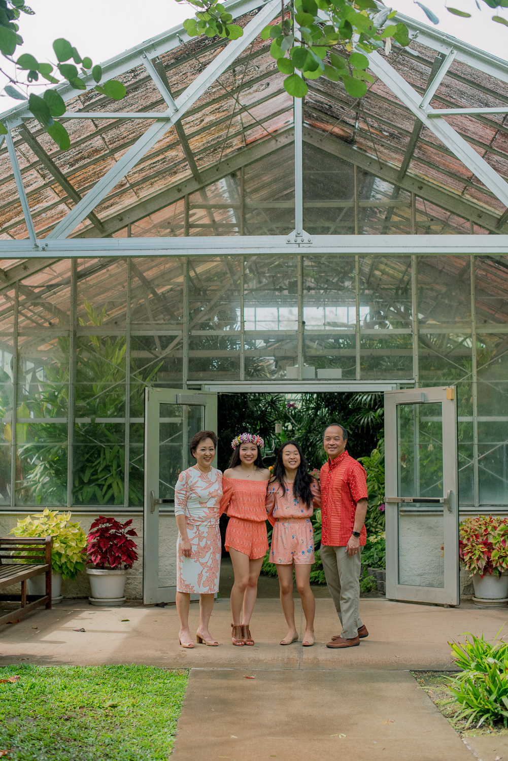 Family at Foster Botanical Garden